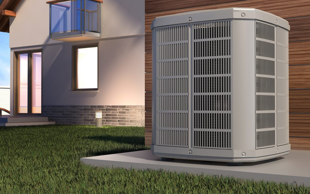 a1heatair-Air heat pump and house